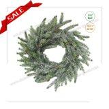 Corona artificiale di natale di H30-H48cm con la decorazione di festa dell'albero di Natale della neve