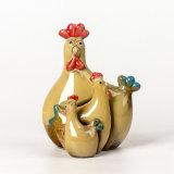 Terraglie belle del regalo dell'artigianato della porcellana di Pasqua di natale di festa di Deocoration del giardino della casa della Camera di Familly del fumetto della Cina del pulcino di Chickabiddy animale di ceramica di imposta della volta