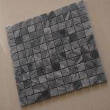 Серая мраморный мозаика квадрата плитки каменной стены для кухни