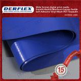 ファブリック紫外線抵抗力がある防水シートのための上塗を施してあるキャンバスファブリックPVCコーティング