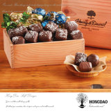 Hongdao 최신 각인된 로고 음식 패킹 나무 상자