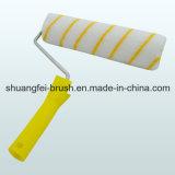 Stripe amarelo Paint Roller com Handle