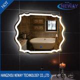 Espejos de plata caseros ligeros calientes del cuarto de baño de la venta LED