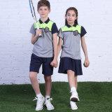 Uniforme scolaire international de chemise de polo, uniforme scolaire primaire fait sur commande d'usine, école bon marché d'enfants de vente en gros