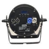세륨 Powercon 호리호리한 알루미늄 주거 (12HX)를 가진 승인되는 콤팩트 RGBWA UV 단계 빛 LED 동위