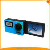 Acção 4K Câmera com tela girar desportos ao ar livre entrada DV