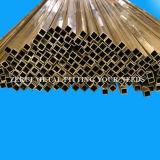 25.4X25.4X1.5mm tubo de latón cuadrado de dibujo duro para decorativos