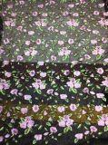 Nuevo diseño de encaje bordado de flores de tela para ropa de mujer