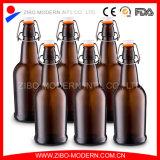 Casa all'ingrosso che fermenta la bottiglia da birra di vetro ambrata superiore utilizzata dell'oscillazione da 500 ml