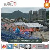 15X15m Richtende Tent met Transparant Dak en Kanten