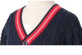 Gestrickte Kind-Pullover-Strickjacke-Mädchen-Schule-Modell-Strickjacke