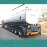 45000 liter Vier de Semi Aanhangwagen van de Olietanker van de As