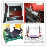 Rolo do transporte da peça do transporte de correia/rolo de borracha do revestimento