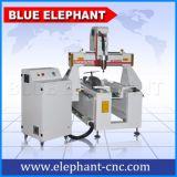 La publicité de l'axe rotatif Wood Design périphérique routeur CNC pour les BPC PVC Aluminium