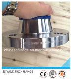 Flanges do aço inoxidável F321 de Wnrf da garganta da solda/soldadura do ANSI