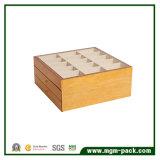 大きいスペースが付いている贅沢な木ベルトの締める物の収納箱
