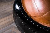 Silla de aluminio negra de la bola del ojo del globo de la vaina del estilo de Eero Aarnio de la cubierta de la hoja