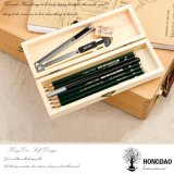 Hongdao personalizou o _E de madeira do baixo preço de caixa de embalagem do presente do pinho natural Handmade da cor
