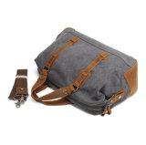 Barato preço Mix de lona resistente Duffle Bag de couro para viagens de negócios