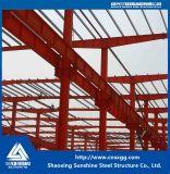 Almacén modificado para requisitos particulares casa prefabricada de la estructura de acero de la sol