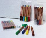 Crayon de couleur en bois Jumbo de 120 mm de longueur, crayons de cire Jumbo