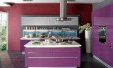 白黒台所家具のラッカー食器棚(zz-080)