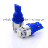 최고 질 T10 5SMD 5050 W5w 백색 적청 황색 LED 전구