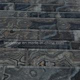 Textura de mármore preto mosaico de decoração de tijolos de vidro