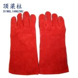 """14 """" gants fonctionnants de sûreté de cuir fendu de vache pour la soudure"""