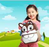 Buho animal lindo del mono de la jirafa del bolso de la historieta del jardín de la infancia de los bolsos de escuela del cabrito del niño del morral del diseño del bolso de los cabritos de los niños 3D del neopreno