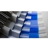 波形のポリカーボネートシートのポリカーボネートのさざ波はプラスチックテラスカバーを波形を付けた
