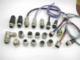 M23 12, 17, 19 de Speld Beschermde Mannelijke & Vrouwelijke Elektronische Stop & de Contactdoos van de Kabel