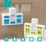 Striscia normale del convertitore di sincronizzazione di potere dello zoccolo elettrico di potere con il USB