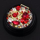 Смешанные Diamond стразами драгоценных камней круг 3D-лак для ногтей - Блестящие цветные лаки новых прибывают украшения в салоне Crystal ногтей украшения (NR-16)