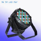 РАВЕНСТВО 54X3w RGBW алюминиевое СИД может осветить