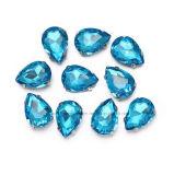 De briljante Buitensporige Daling naait op de Klauw van Bergkristallen op Kristal voor Kleding (sW-Drop/18X25mm)