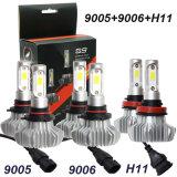 Super Bright 60W de puissance élevée 12000LM COB voiture sans ventilateur auto S9 H1 H11 9006 H4 H7 ampoules de projecteur à LED