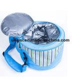 Sacchetto cilindrico dell'isolamento di picnic del pranzo del secchio della benna con la cinghia di spalla