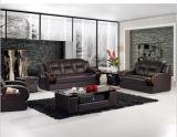 Sofá de couro moderno com os sofás do couro genuíno