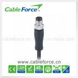 Connecteur imperméable à l'eau de cable connecteur droit mâle de M8 4pin