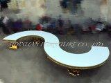 Tabella pranzante dell'oro del blocco per grafici dell'acciaio inossidabile di evento di cerimonia nuziale di figura di S