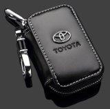 Carpeta dominante de cuero - coche superior Keychain del cuero genuino de la cremallera para Toyota