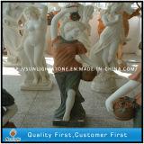 Естественная белая мраморный высекая скульптура для сада