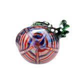 Tubulação de vidro da colher da tubulação de vidro de vidro da mão do dragão verde de tubulação de fumo