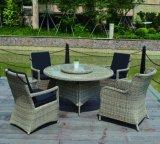 Rattan di vimini del patio dell'hotel del Ministero degli Interni del giardino esterno caldo di Morden che pranza presidenza (J5881)