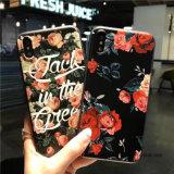 Случай телефона стильного цветка TPU милый с ощупыванием касания на iPhone x