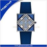 La couleur Squar-Shaped mouvement suisse Quartz Mesdames Women Watch spécial cuir