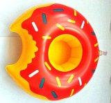 Asiento inflable de la taza de la bebida del PVC del diseño del buñuelo para el partido de piscina