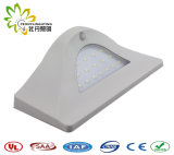 Blanc, 16PCS SMD5730 DEL, 4W, 550lm, lampe de mur solaire avec le détecteur de mouvement + lumière obscure + contrôle léger