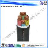 Cable aislado y forrado del PVC de la base del Al de transmisión